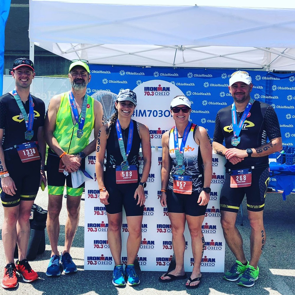 Jon and I worked with two friends over the last few months who wanted to get into the 70.3 distance. They both crushed the race.