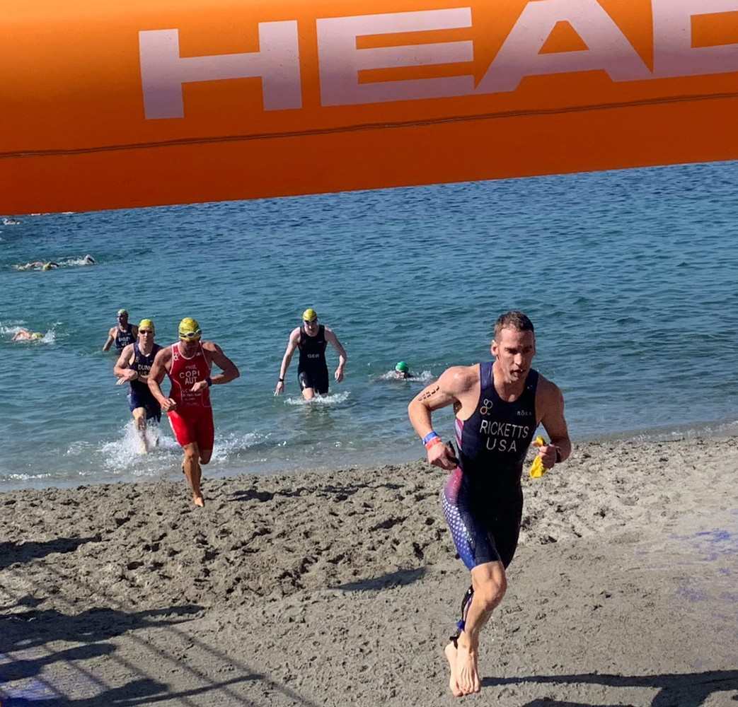 2019 ITU Triathlon World Championships in Lausanne,  Draft Legal Sprint,  9th AG