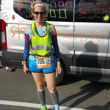Ready for my leg at Ragnar Cape Cod 2017