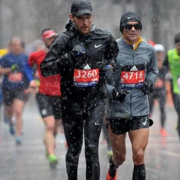 1st Boston in miserable conditions 2:59.
