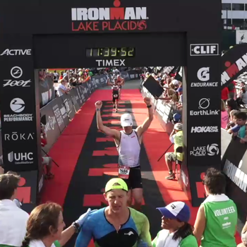 Ironman Lake Placid Finish after so many hills