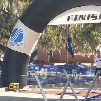 Parris Island Sprint Triathlon Finish