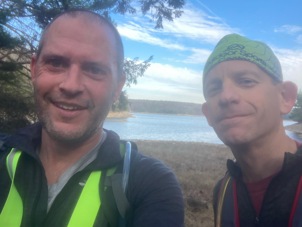 16m trail run around the Saugatuck Reservoir, 3 hours 50 minutes.