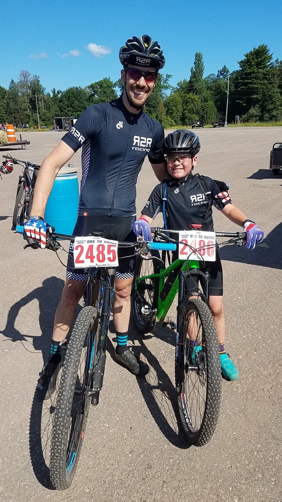 Me and my little guy after his first Ore to Shore 28 mile race.