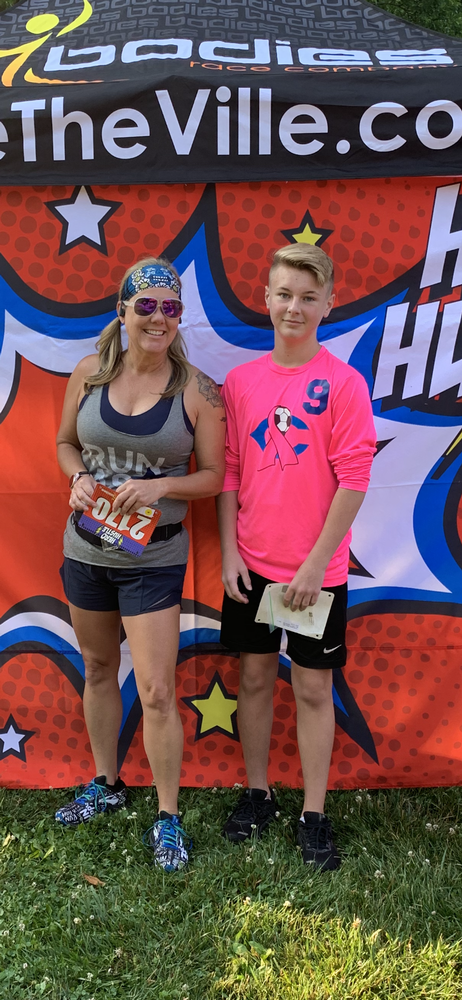 1st place age group hero hustle