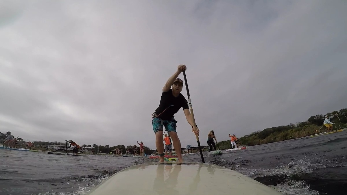 My last race, Paddle Paradise Winter Challenge, 6th place