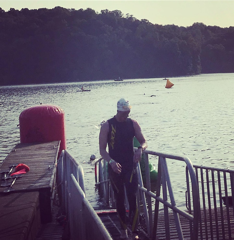 Swim finish at Toughman Ohio