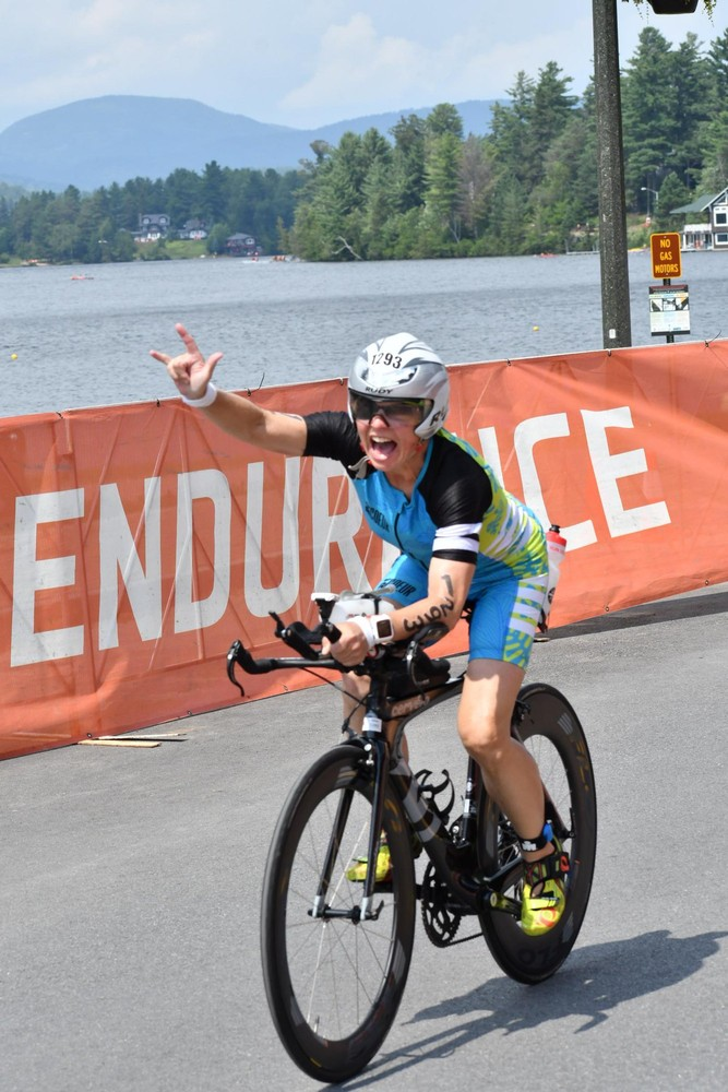 Biked the 2019 Ironman Lake Placid course wearing an eyepatch to compensate for double vision caused by a bike accident 5 weeks before the race.