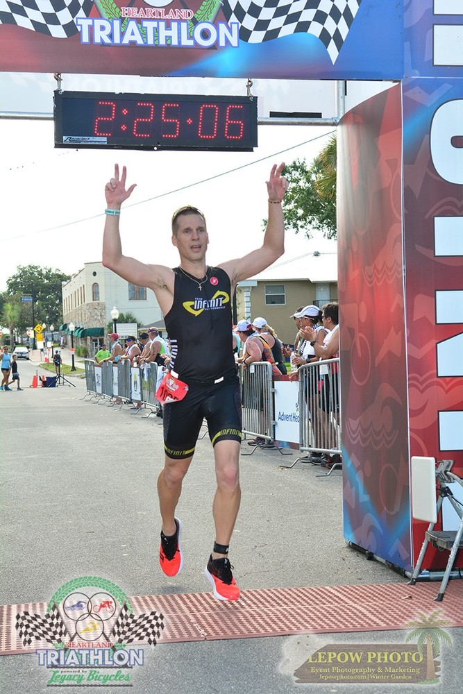Finish pic from Heartland Triathlon Olympic in Sebring, FL