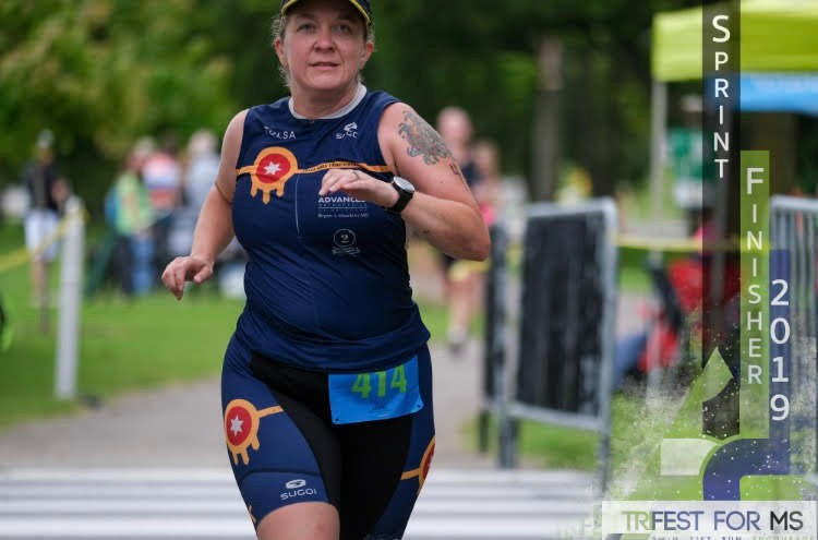 Finish line pic from TriFest for MS