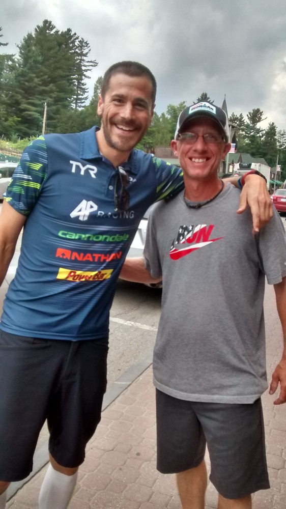 Andy Potts and I at Ironman Lake Placid 2017