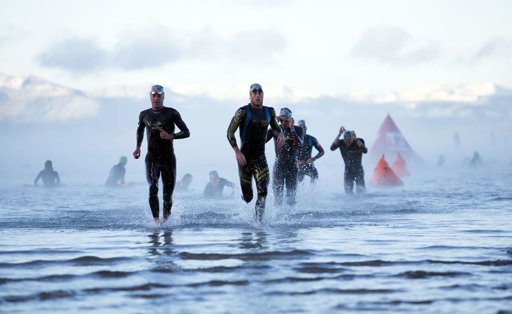 Leading the chase pack, Ironman Lake Tahoe