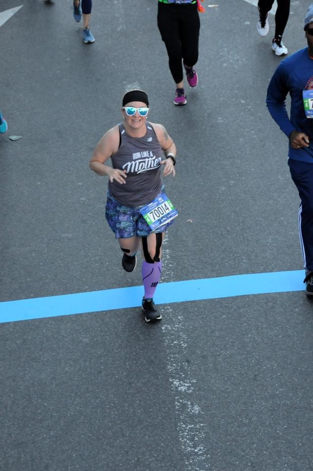 one of my on course photos from the New York City Marathon