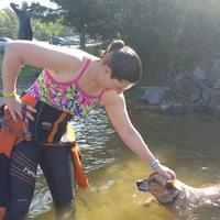 OWS swim buddy. Friend's pup; she swims 3+ mi with us!