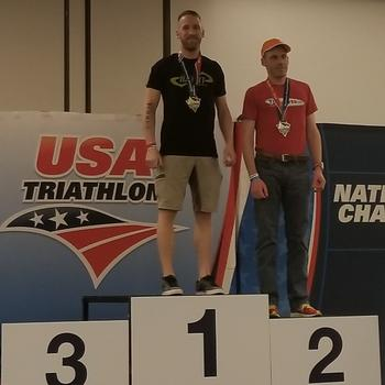 Draft Legal Duathlon National Championship podium.  1 of 2 National Championships earned during the weekend in April at Greenville, SC.