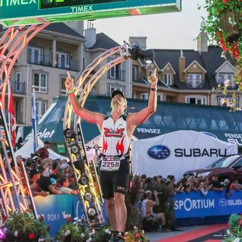 Finish line of Ironman Mont Tremblant 2018