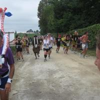 Marathon du Medoc 2011 (Dalmatian struggling up the hill).