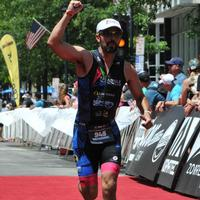 Finishing Photo at Ironman Raleigh 70.3