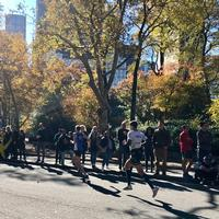 Running through Central Park...Last Mile of the TCS NYC Marathon 2018